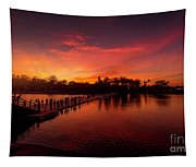 Sunset In Angkor Tapestry