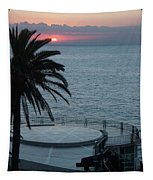 Sunset Over A Balcony Tapestry
