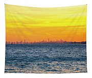 Sunset Over The City Tapestry