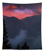 Sunset Storms Over The Rockies Tapestry by John De Bord