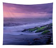 Sunset Surf On The Gulf Of Mexico, Venice, Florida Tapestry