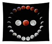 Super Blood Wolf Moon Eclipse Tapestry
