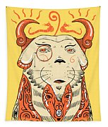 Surreal Cat Tapestry by Sotuland Art