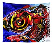 Swollen Red Cavity Fish Tapestry