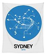 Sydney Blue Subway Map Tapestry