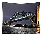 Sydney Harbor Bridge Night View Tapestry