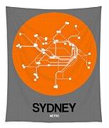 Sydney Orange Subway Map Tapestry