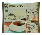 Tea Collage Poster Tapestry
