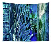 Teal Abstract Tapestry