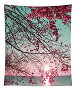 Teal And Fuchsia - Autumn Sunrise Reimagined Tapestry