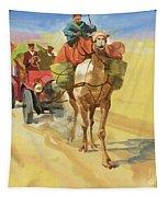 Ten Thousand Mile Motor Race Camel Train Tapestry