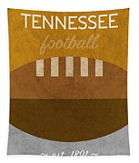 Tennessee Football Minimalist Retro Sports Poster Series 004 Tapestry