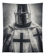 Teutonic Knight Black And White Tapestry