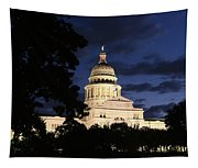 Texas State Capital Dawn Panorama Tapestry