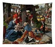 The Adoration Of The Magi With Donor  Tapestry