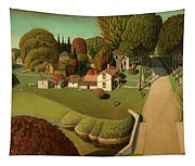 The Birthplace Of Herbert Hoover, 1931 Tapestry