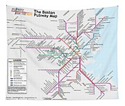The Boston Pubway Map Iv Tapestry