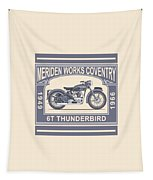 The Classic Thunderbird Motorcycle Tapestry