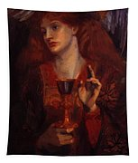 The Damsel Of The Sanct Grail Tapestry