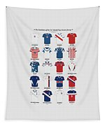 The Evolution Of The Us World Cup Soccer Jersey Tapestry
