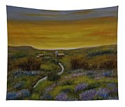 The Farm At Dusk Tapestry