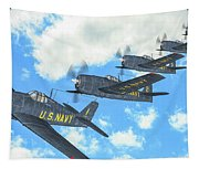 The First Blue Angels - Oil Tapestry