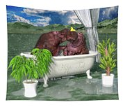 The Hippo Tub Tapestry