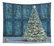 The Hoping Holiday Frog Tapestry