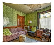 The Old Farmhouse Living Room Tapestry