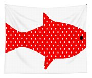 The Red Polka Dot Fish Tapestry