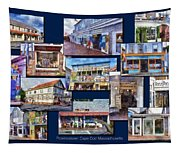 The Shops Of Provincetown Cape Cod Massachusetts Collage Pa Tapestry