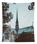 The Spire - Cathedral Of Notre Dame Paris France Tapestry