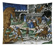 The Trojan Horse Is Hauled Into The City  After       Tapestry