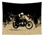 The Vintage Motorcycle Racer Tapestry