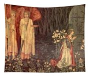 The Vision Of The Holy Grail To Sir Galahad Sir Bors And Sir Perceval Tapestry