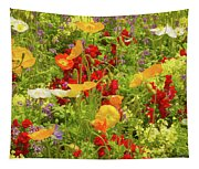 The World Laughs In Flowers - Poppies Tapestry