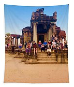 They Come To See Angkor Wat, Siem Reap, Cambodia Tapestry