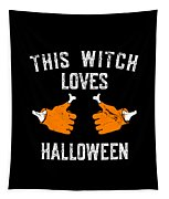 This Witch Loves Halloween Tapestry