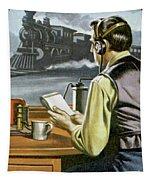 Thomas Edison, The Railway Telegraphist  Tapestry