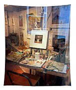 Through An Artists Window Tapestry