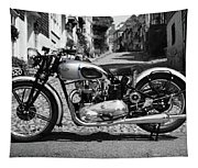 Tiger T100 Vintage Motorcycle Tapestry