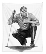 Tiger Woods Crouching Tiger Tapestry