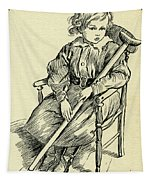 Tiny Tim From A Christmas Carol By Charles Dickens Tapestry