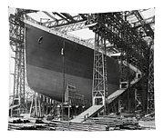 Titanic In Belfast Dry Dock 1911 Tapestry