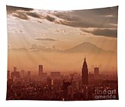 Tokyo And Mount Fuji Tapestry