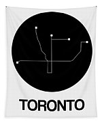 Toronto Black Subway Map Tapestry