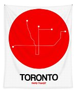 Toronto Red Subway Map Tapestry