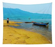 Tourists In Lang Co 2 - Hue, Vietnam Tapestry
