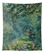 Trail In The Woods Tapestry