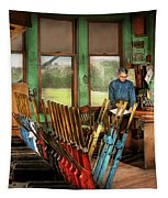 Train - Controls - In The Signal Tower 1940 Tapestry by Mike Savad